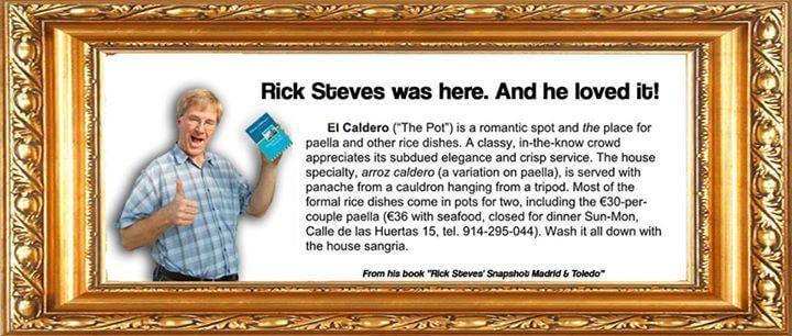 rick steves ejoyed El Caldero in Madrid